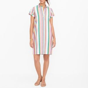 j.crew | linen candy striped dress